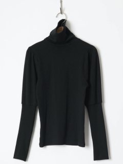<img class='new_mark_img1' src='https://img.shop-pro.jp/img/new/icons6.gif' style='border:none;display:inline;margin:0px;padding:0px;width:auto;' />HOLIDAY / SUPER RIB PUFF HIGH-NECK TOPS  (BLACK) 21aw