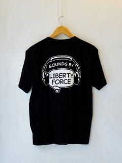 LIBERTY FORCE(リバティーフォース) / 音楽レーベルTシャツ / ブラック