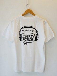 LIBERTY FORCE(リバティーフォース) / 音楽レーベルTシャツ / ホワイト