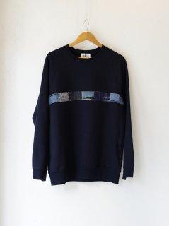 KUON (クオン)BORO Trimed Sweatshirt