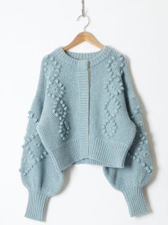 <img class='new_mark_img1' src='https://img.shop-pro.jp/img/new/icons6.gif' style='border:none;display:inline;margin:0px;padding:0px;width:auto;' />HOLIDAY / WOOL CASHMERE PONPON KNIT CARDIGAN 21aw