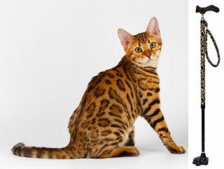 猫の手ステッキ【ベンガルネコ】