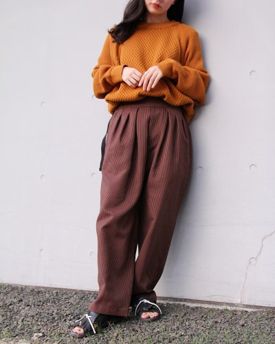 "<p>SAYATOMO</p>""Hakama Nodoka Pants"" BROWN"