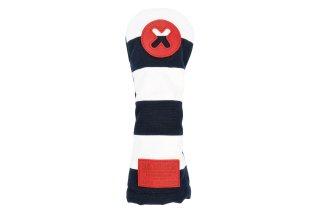X番フェアウェーウッド用ヘッドカバーNW  帆布キャンバスシリーズ ボーダー