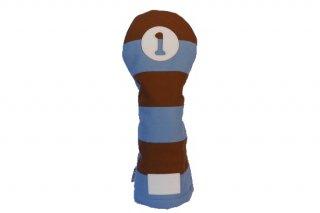 ドライバー用ヘッドカバーSB 帆布キャンバスシリーズ ボーダー