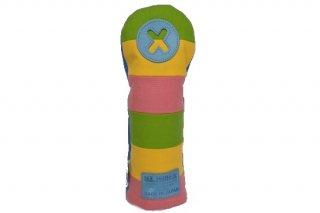 X番フェアウェーウッド用ヘッドカバーCP 帆布キャンバスシリーズ ボーダー