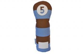 5番フェアウェーウッド用 ヘッドカバー SB  帆布キャンバスシリーズ ボーダー