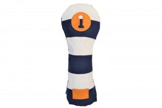 ドライバー用ヘッドカバーBW 帆布キャンバスシリーズ ボーダー