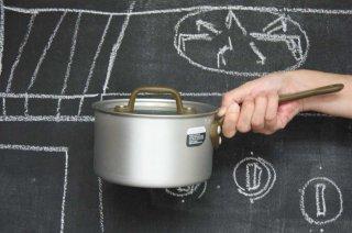 Saucepan ソースパン 15cm silver×militarygreen