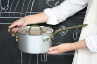 Saucepan ソースパン 18cm silver×militarygreen