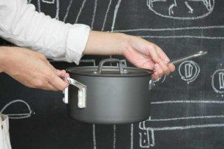 Saucepan ソースパン  18cm black×silver