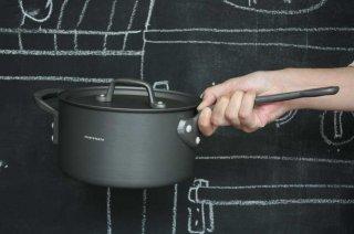 Saucepan ソースパン 18cm black×black