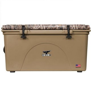 ORCA Coolers 140 Quart -MOSSY OAK BLADES Tan-