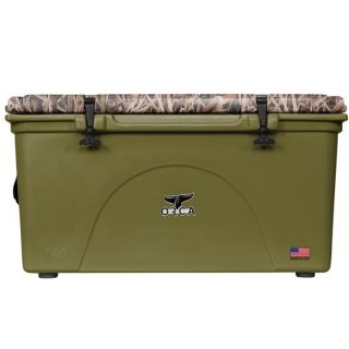 ORCA Coolers 140 Quart -MOSSY OAK BLADES Green-