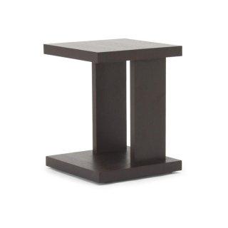 SLED スクエアサイドテーブル -ブラウン