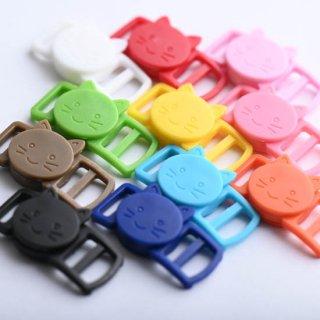 猫の安全バックル プラスチック製 10個 セーフティバックル 首輪