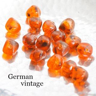 ドイツヴィンテージビーズ 不規則 10mm 6個  アクリルビーズ  ルーサイトビーズ