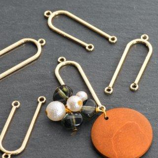 U字型コネクター 6個 ゴールド メタルパーツ 天秤 二股 チャーム
