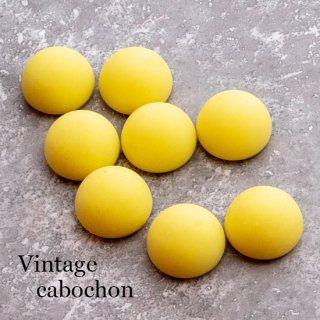 【やや訳あり】ヴィンテージカボション マットなレモンイエロー アクリル  ルーサイト アクリル 黄色