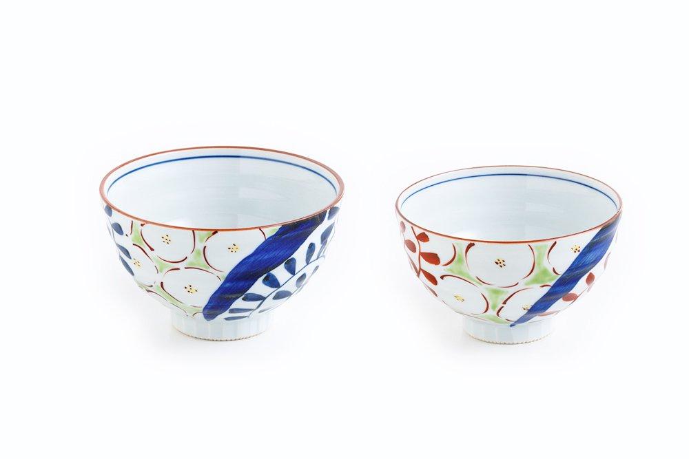 流水花詰 茶椀