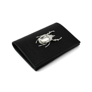 昆虫付き 牛革カードケース