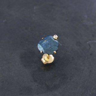 【1点物】ブルーダイヤモンド K18ピアス