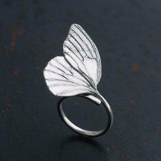 蝶の片翅 リング(左向き)