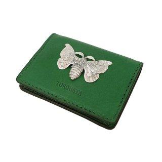 昆虫付き 牛革コンパクトミニ財布