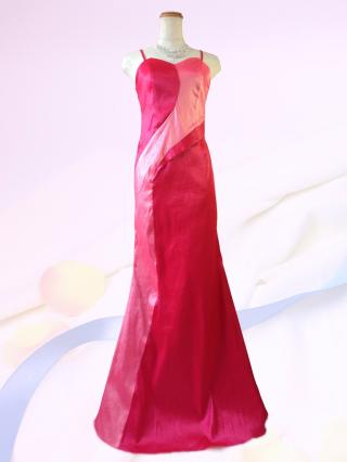 マーメイドライン  マリンレッドのロングドレス9-205/ 演奏会 ラミューズドレス通販