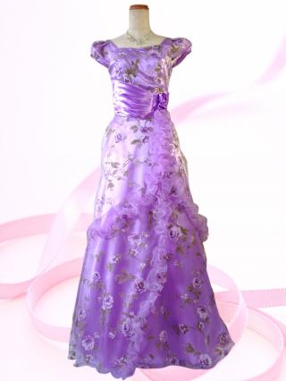 Miss Rose ロングドレス パープル 6773 /演奏会・ラミューズドレス通販