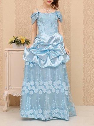シンデレラ ブルー*ロングドレス 3161/ラミューズドレス通販