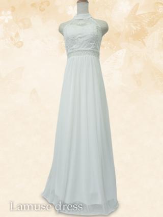 自由の女神 アメスリ ロングドレス/ホワイト 8333/ 演奏会 ラミューズドレス通販