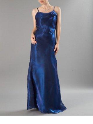 【L】マーメイドロングドレス オーガンジー・ブルー5085/ 演奏会 ラミューズドレス通販