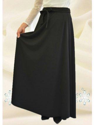 定番♪黒ロング巻スカート ストレートライン5085/演奏会 ラミューズドレス通販