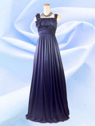 new! アシンメトリーロングドレス ノースリーブ ネイビー 6281/ 演奏会 ラミューズドレス通販