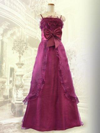 リボンドールのピンクローズ・ロングドレス2708