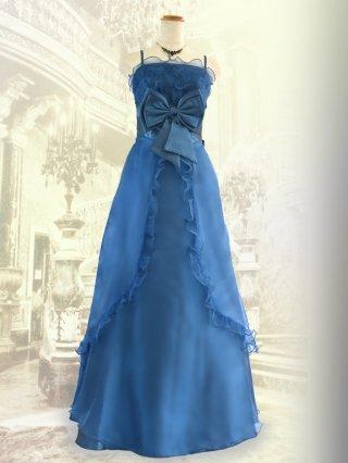 リボンドールのブルー・ロングドレス2708
