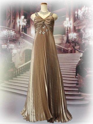 Jewelジュエル・ゴールドロングドレス*9982/ 演奏会 ラミューズドレス通販
