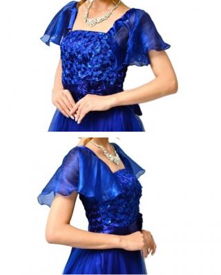 【キャミソールドレスに付袖!】黒・青・赤・紫 3299/ 演奏会 ラミューズドレス通販