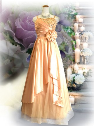 【M.L】ルノワール着やせドレス♪1601コープゴールド/ラミューズドレス通販