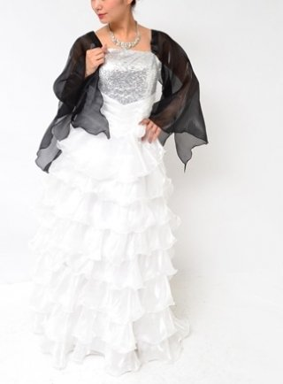 ドレス用ロング付袖*ブラック*ラミューズ