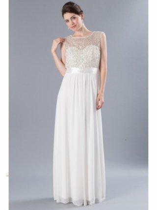 【L】フューシャホワイト ロングドレス 8472 演奏会 ラミューズドレス通販