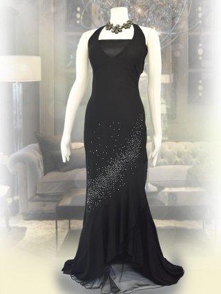 ブラックストーン*ホルターネックロングドレス*8535/演奏会ステージドレス