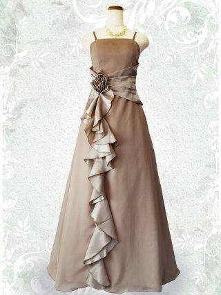 幻想的ロングドレス・ベージュ2090/演奏会 ラミューズドレス通販