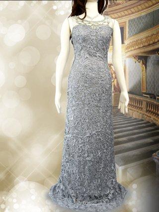 エトワールロングドレス*シルバーグレー/演奏会 ラミューズドレス通販5588