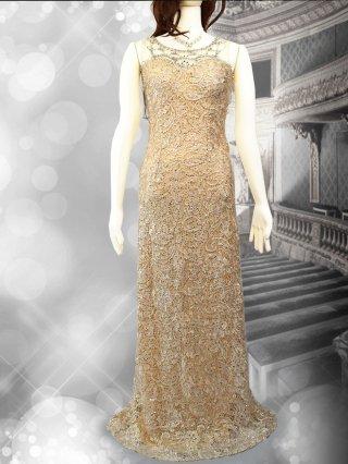 エトワールロングドレス*ゴールドベージュ/演奏会 ラミューズドレス通販5588