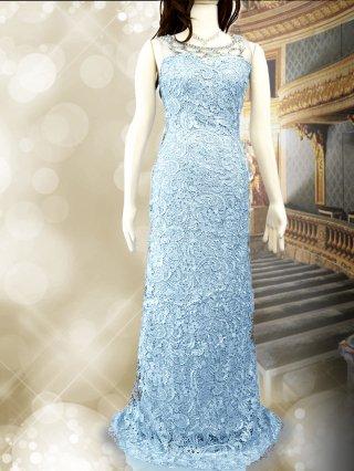 エトワールロングドレス*ライトブルー演奏会 ラミューズドレス通販5588
