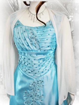 ホワイトボレロ*袖付き 演奏会用  羽織物
