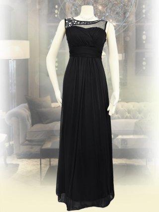 【S】ブラックビジュ*ロングドレス*1188/演奏会ステージドレス