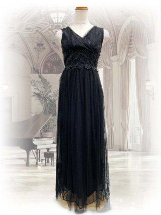 【身長150cm♪】ラメブルー*ブラック*レッドロングドレス*907 演奏会ロングドレス